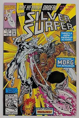 The Silver Surfer #71 Marvel Comic 1992 Herald Ordeal Part 2 Morg Appearence