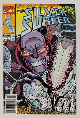The Silver Surfer #59 Marvel Comic 1991 Infinity Gauntlet Crossover Thanos