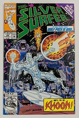 The Silver Surfer #68 Marvel Comic 1992 Infinity War Crossover Ron Marz