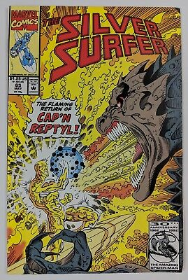 The Silver Surfer #65 Marvel Comic 1992 Cap'N Reptyl Ron Marz The Collector