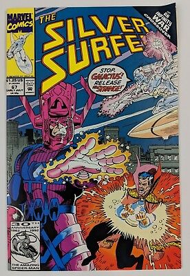 The Silver Surfer #67 Marvel Comic 1992 Infinity War Crossover Galactus Ron Marz