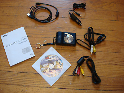 Nikon Coolpix L18 8MP Digital Camera 3x Optical Zoom & data transfer cables