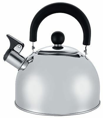 2L Stainless Steel Whistling Kettle Hob Gas Electric Camping Boil Coffee Tea Pot