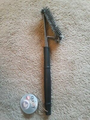"""2 BBQ Grill Brush Cleaners 18"""" Grilling Tool Cleaning Stainless Steel Woven Wire"""