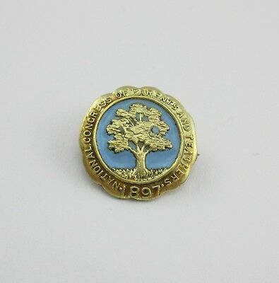 10K Gold Filled NATIONAL CONGRESS OF PARENTS AND TEACHERS 1897 Enamel Pin