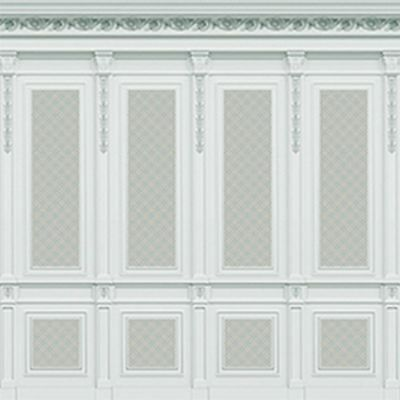 Dollhouse Miniature 1:12 Scale French Wall Panel Boiserie Blue
