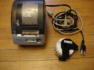 Brother QL-500 P-Touch Thermal Label USB Printer Shipping  works with cords