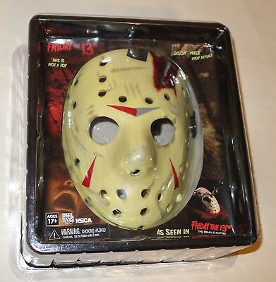 NECA - JASON VOORHEES MASK Prop Replica Friday The 13th Final Chapter SEALED NEW