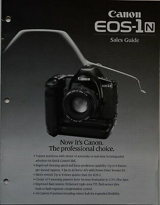 Canon Eos-1N 35Mm Camera Sales Guide Brochure