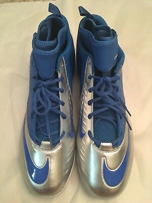 online store d343a 83706 ... New Nike Lunar Superbad Pro Mid TD Mens Football Cleats - Blue Silver  ...