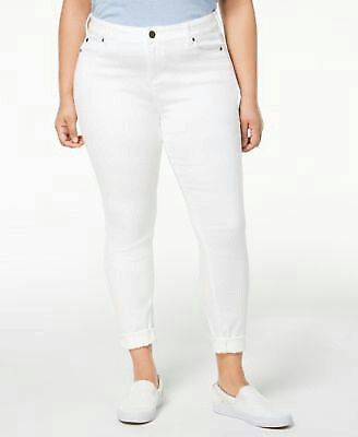 68cfdc025cf Celebrity Pink Women s sz 18 Cotton Mid Rise Ankle Slim White Boyfriend  Jeans