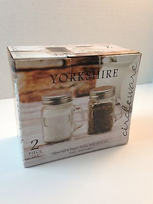 Circleware Mason Yorkshire Jar Mug Salt and Pepper Shakers, 5 ounce