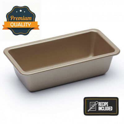 "KitchenCraft Paul Hollywood Seamless Non-Stick 1 lb Loaf Tin, 18 x 9 cm (7""..."