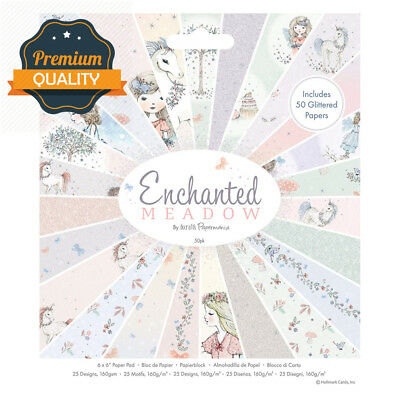 docrafts Papermania Enchanted Meadow Paper Pad, Candy Coloured Pastels, 15.7...