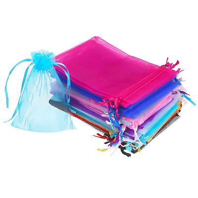 50 Pieces 4 by 6 Inch Organza Gift Bags Drawstring Jewelry Pouches Wedding...