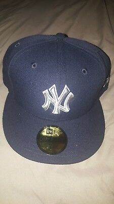 6f1a07af567 New York Yankees New Era Navy Grey and White MLB Hat Size 7 1 2