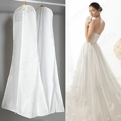 White Extra Large Cover Breathable Dress Gown Garment Storage Bridal Wedding Bag