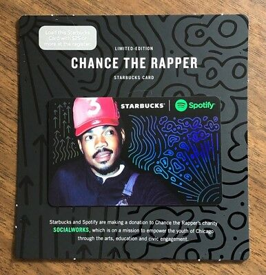 "Starbucks Gift Card 2017 Spotify Limited Edition ""Chance the Rapper"" No $ Value"