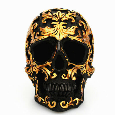 Occult Satanic Altar Gold color Gothic Skull Ritual Statue Halloween Collect Set