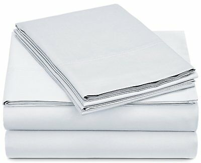 Pinzon 500-Thread-Count Pima Cotton Sateen Sheet Set - Full, White