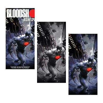 Bloodshot Rising Spirit 1 Clayton Crain B&w Virgin Variant Set Ltd 250 Pre-Sale