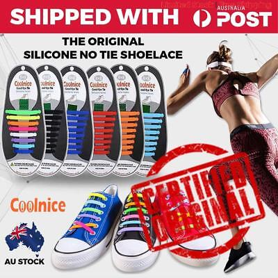 Shoelaces Easy Lazy No Tie Elastic Silicone Sport Runners Shoe Lace Unisex Cool