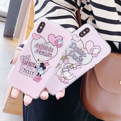 Cute Disney Minnie Daisy TPU Phone Case Cover For iPhone X XS Max XR 6 7 8 Plus
