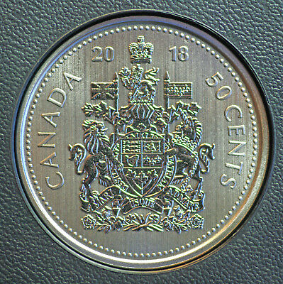 2018 Canada 50 cent coin Specimen finish from set  - COIN ONLY  in stock
