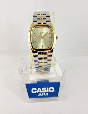 3aad91605 CASIO MEN GOLD Two Tone Stainless Steel Fashion Analog MTP1253SG MTP ...