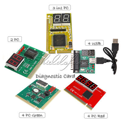 2 / 3 in1 / 4 Digit PCI PCI-E PC Analyzer Analysis Diagnostic Card USB POST Card