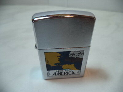 Zippo Accendino Lighter America Vintage Colombo 1492-1992 Rare New No Inserto