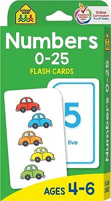 Numbers 0-25 Flash Cards - Ages 4-6, Preschool and Up, Math Equations, Counting