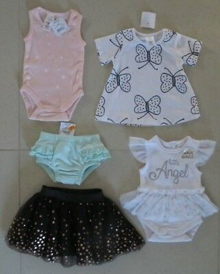 Baby Girls Mixed Clothes 5 Pieces Size 0000-000