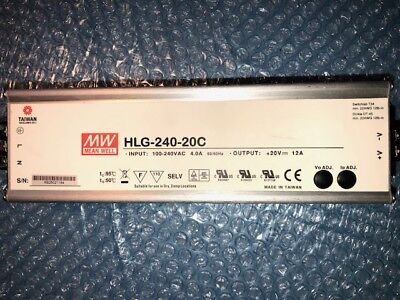 Alimentations LED  MEAN-WELL  HLG-240-20C / 12A TERMINAL BLOCK