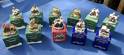 David Winter Cottages Christmas Ornaments - Lot of 11 w/ Original Boxes