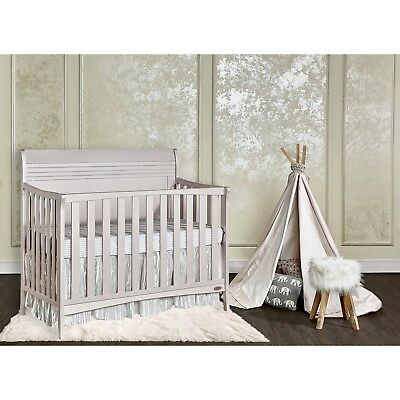 Convertible Baby Crib Nursery Furniture Cribs For Girls Toddler Bed Solid Wood