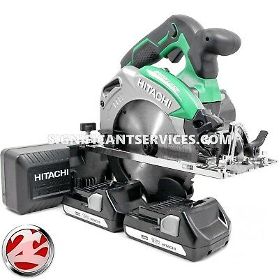 Hitachi 18V Cordless 6-1/2 in Deep Cut Circular Saw C18DBALP4 Li-Ion Battery Kit