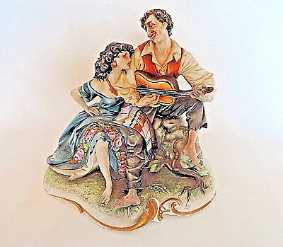 Capodimonte Figurine Gypsy Lovers Signed By The Artist