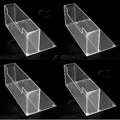"""4x Counter Top 9"""" Brochure/Magazine Holder Display Clear Acrylic NEW _305-05x4"""