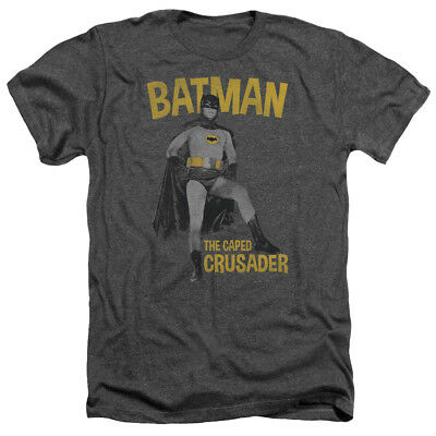 Batman 60s TV Show CAPED CRUSADER Licensed Adult Heather T-Shirt All Sizes