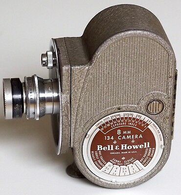 Bell & Howell 134 8mm movie camera, 0.5 in 1.9 Super Comat | 3 lens turret Filmo
