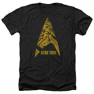 Star Trek Comics Crew in DELTA Vintage Style Adult Heather T-Shirt All Sizes
