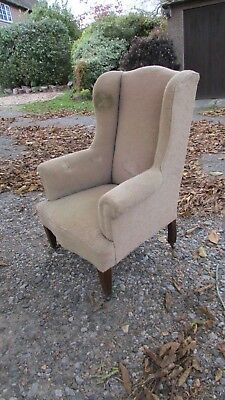Vintage/Antique wing chair for restoration/upholstery C.1920
