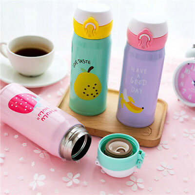Stainless Steel Travel Mug Insulated Thermos Cup Cute Fruit Style Coffee Mugs YW