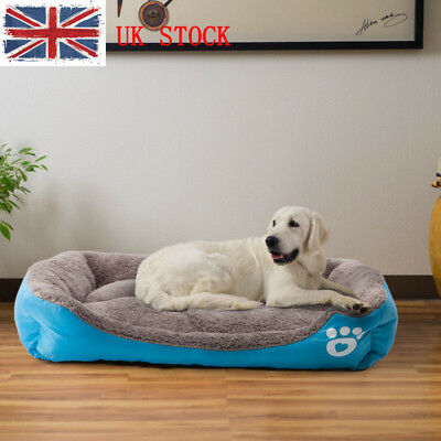 Large Dog Cat Pet Bed Puppy Soft Winter Warm Kennel Cushion Mat Pet House UK