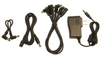 Guitar pedal power supply effects  5-way daisy chain & 6ft extension cable kit