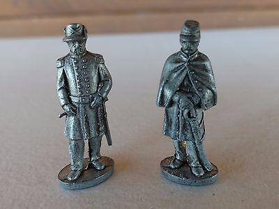 Pewter Civil War Union Soldiers Lot of Two Great Coat 11F & Infantry Colonel 11A