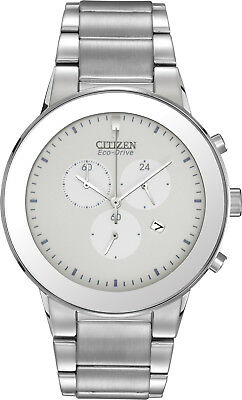 Citizen AT2240-51A Men's Eco Drive Axiom Stainless Steel Chronograph Watch