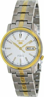 Seiko 5 SNKL84 Men's Two Tone Stainless Steel Silver Dial Automatic Watch