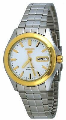 Seiko 5 SNKK96 Men's Two Tone Stainless Steel Silver Dial Automatic Watch